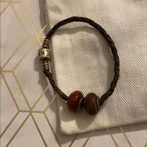 Leather pandora bracelet